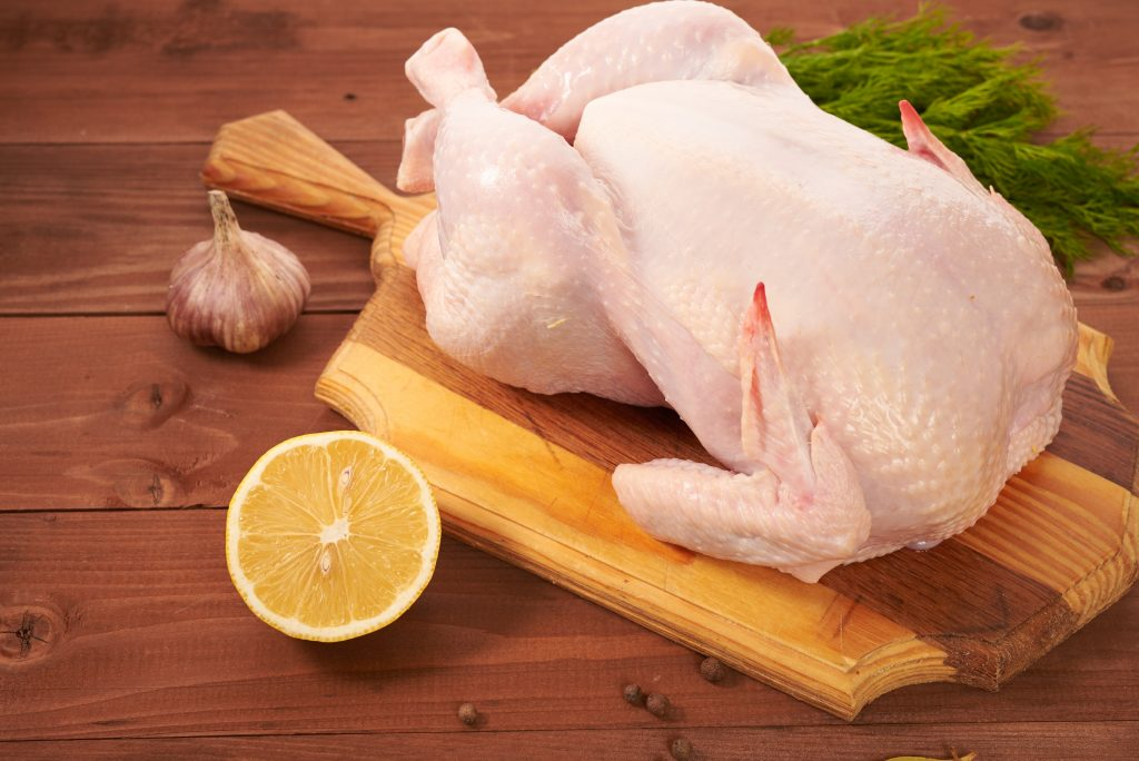 Ready-to-cook chicken carcass